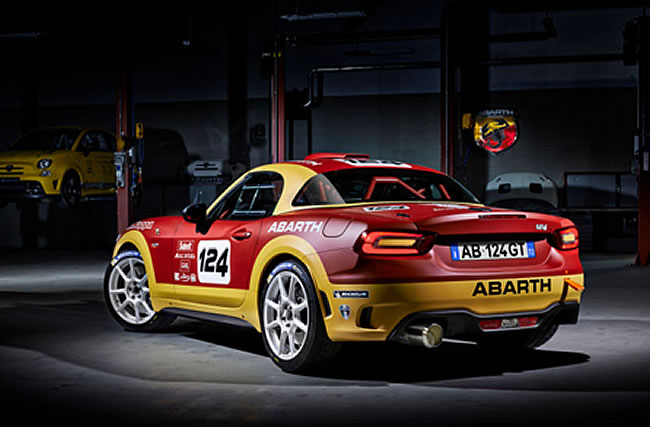 fiat 124 abarth rally goes with bmc air filter